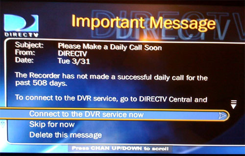 My TiVo is crying for help!